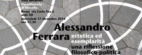 Lezione magistrale di Alessandro Ferrara