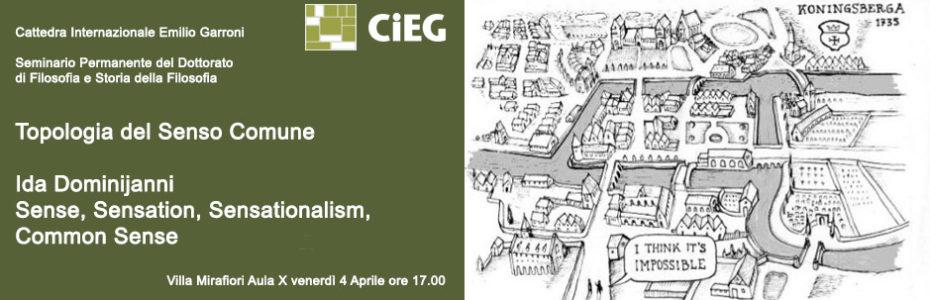 Topologia del senso comune - Ida Dominijanni – Sense, Sensation, Sensationalism, Common Sense