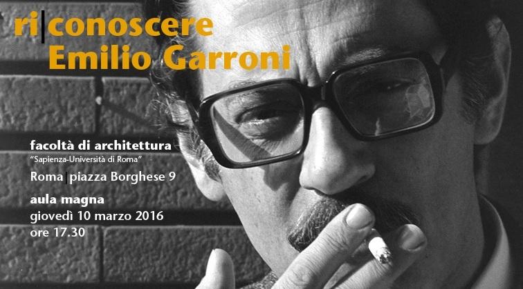 Ri-conoscere Emilio Garroni