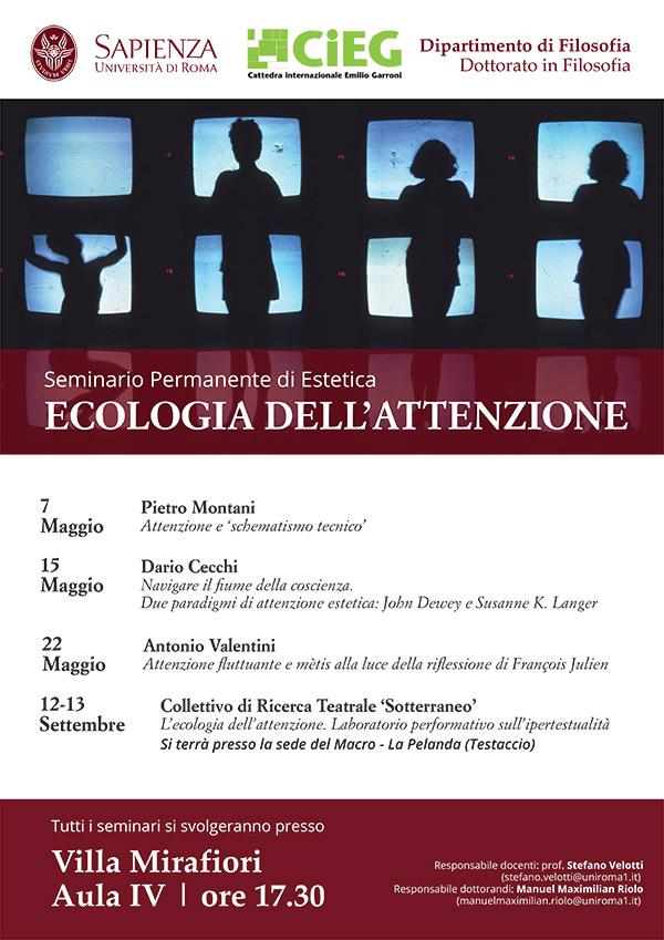 Seminario permanente di Estetica - Ecologia dell'attenzione