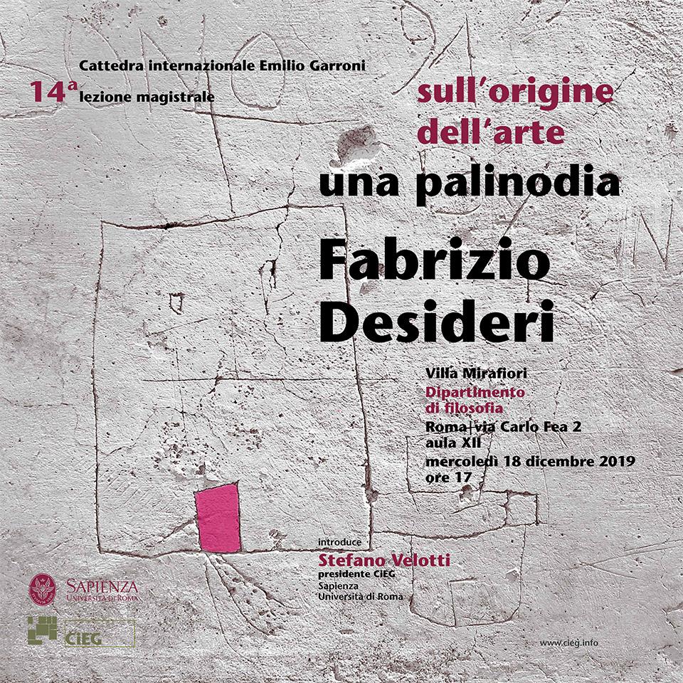 Fabrizio Desideri Sull'origine dell'arte