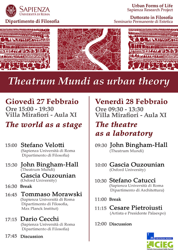 Theatrum mundi as urban theory